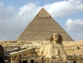 Fotografia: Piramida Chefrena i wielki Sfinks