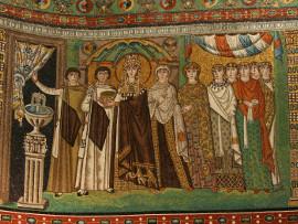 Fotografia: Mozaika Orszak cesarzowej Teodory