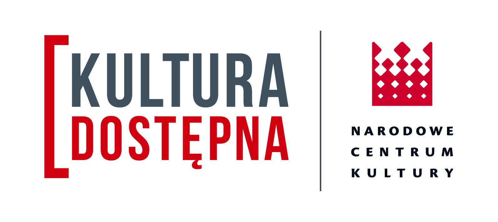 Logotyp programu Kultura Dostępna oraz Narodowego Centrum Kultury