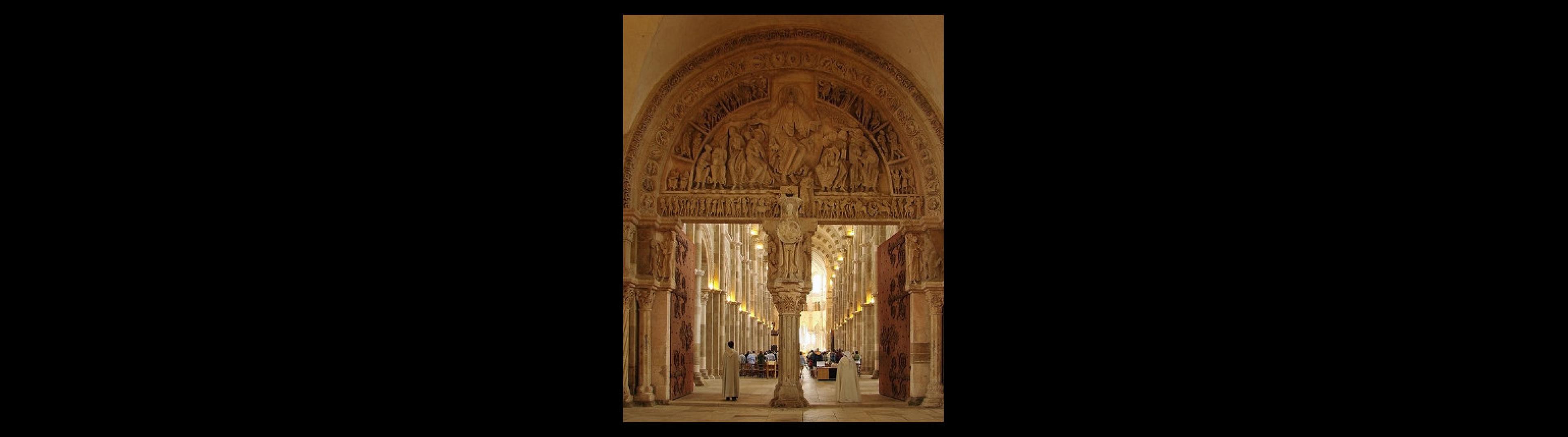 Fotografia: Zachodni portal bazyliki w Vézelay